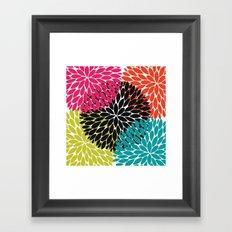 Big Tropical Flowers Framed Art Print