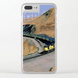 Chicago & Northwestern Train Clear iPhone Case