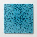 memphis pattern trendy modern pattern print black and blue retro prints by charlottewinter