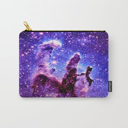 Galaxy Nebula : Pillars of Creation Purple Blue Carry-All Pouch