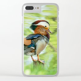 Mandarin Duck Clear iPhone Case