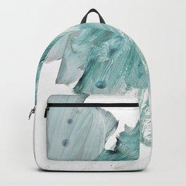 brushstrokes 11 aquamarine Backpack