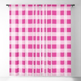 Barbie Pink Picnic Gingham Blackout Curtain