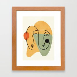 Abstract Faces 19 Framed Art Print