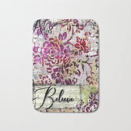 Believe Vintage Floral Bath Mat