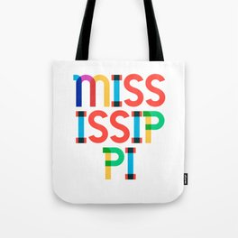Mississippi State Mid Century, Pop Art Mondrian Tote Bag