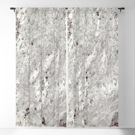 Milky Gray // Red Speckled River Of Marble Natural Stones Rock Textures Blackout Curtain