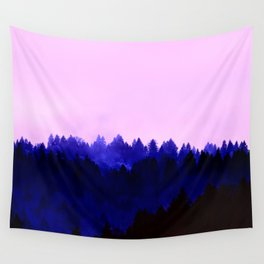 Blusing Twilight - over the forest Wall Tapestry