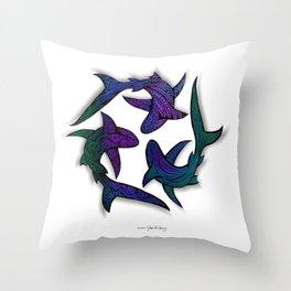 SHARK CIRCLE II Throw Pillow