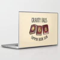 gravity falls Laptop & iPad Skins featuring Gravity Falls: Summer Book Club by pondlifeforme