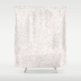 Bridal Blush Polka Dot Bubbles Shower Curtain