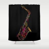 jazz Shower Curtains featuring Jazz by boldizo