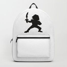 Warrior Boy Silhouette Backpack