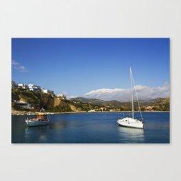 Warm harbour cold mountain Canvas Print