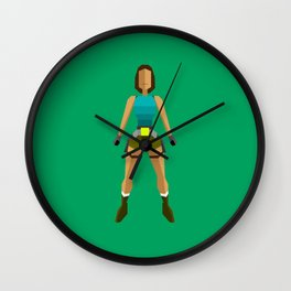 Low poly Lara Croft Wall Clock