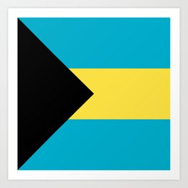 Flag: The Bahamas Art Print