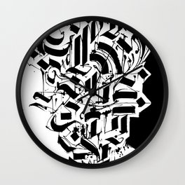 CALLIGRAPHY N°3 ZV Wall Clock