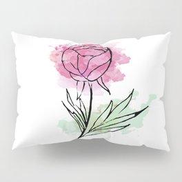 bright pink abstract flower . art Pillow Sham