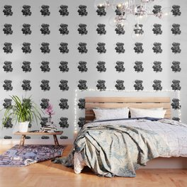 Black Geranium in White Wallpaper