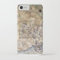 hogwarts iPhone & iPod Cases featuring Hogwarts Map by Sarah Ridings