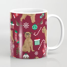 Brussels Griffon christmas holiday pet pattern stockings presents dog breed gifts Coffee Mug