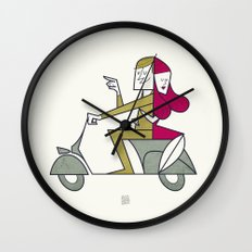 Lovers hug Wall Clock