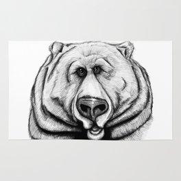 A big, cuddly, grizzly bear! Rug