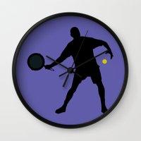 tennis Wall Clocks featuring TENNIS by INNOCENT DESIGNER