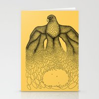 falcon Stationery Cards featuring Falcon by Julia Kisselmann