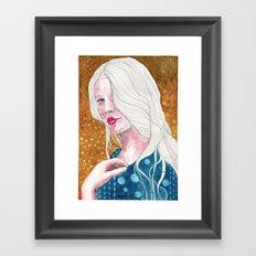 Magnolia, watercolor Framed Art Print