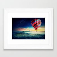 hot air balloons Framed Art Prints featuring Hot Air Balloons by EclipseLio