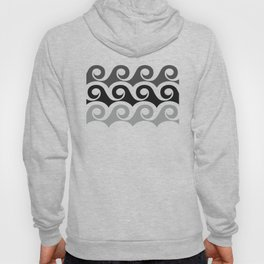 Black and White Waves Hoody