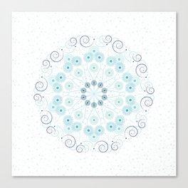 Spring breeze mandala Canvas Print