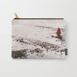 Snowy Fire Hydrant Carry-All Pouch