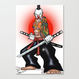 Clown Samurai Canvas Print