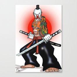 Clown Samurai Canvas Print