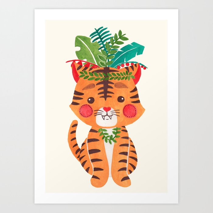 Thomas the Tiger Art Print