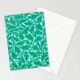 William Morris Oak Leaves, Turquoise & Aqua Stationery Cards