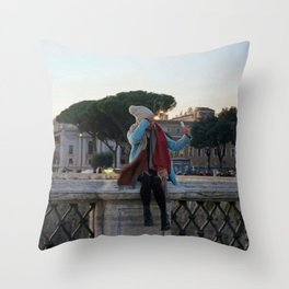 Selfie in Rome Throw Pillow