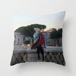 Selfie in Rome Throw Pillow