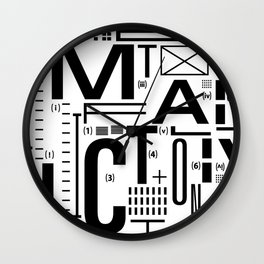 METAL FICTION Wall Clock