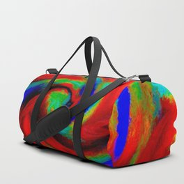 Red Blue Green Fireball Sky Explosion Duffle Bag