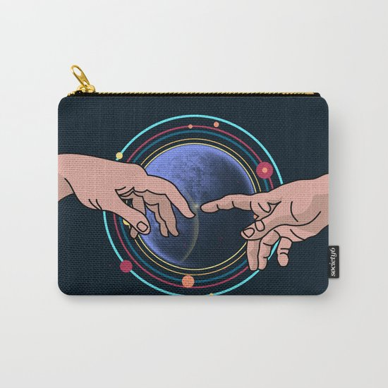 Michelangelo space blue Carry-All Pouch