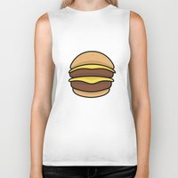 burger Biker Tanks featuring BURGER by KODYMASON