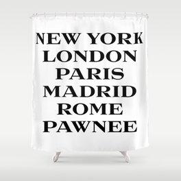 cities marfa fashion print Shower Curtain