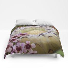 Beautiful Feather Protea Comforters