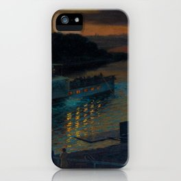 A Nightly River Cruise, Mississippi River by Ernst Max Pietschmann iPhone Case