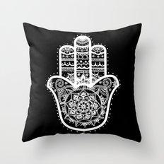 Black & White Hamsa Hand Throw Pillow
