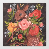 oana befort Canvas Prints featuring FAWN & FLORA by Oana Befort