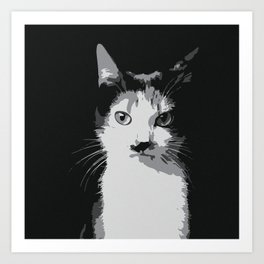 A Feline Mastermind Art Print